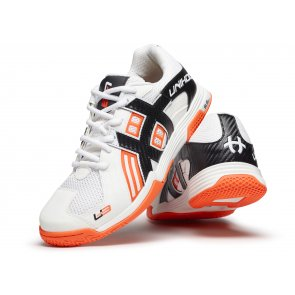 Florbalová obuv UNIHOC U3 Power White Orange
