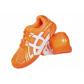 Florbalová obuv UNIHOC U3 Speed Junior orange / white