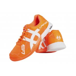 Florbalová obuv UNIHOC U3 Speed NXT orange / white